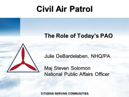 civil air patrol emergency services powerpoint To all sar academy students, thank you for your interest in the 2018 michigan wing search and rescue academy sar academy is designed to help meet the emergency services mission of civil air.