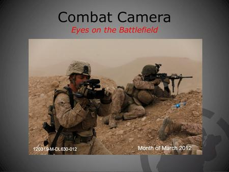 Combat Camera Eyes on the Battlefield Month of March 2012 120319-M-DL630-012.