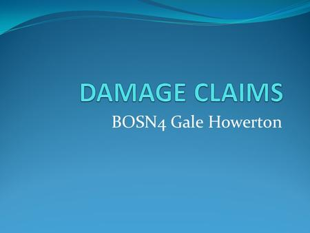 BOSN4 Gale Howerton. Reference AUXILIARY CLAIMS HANDBOOK Encl. (1) to MLCLANTINST 5890.3A of 27 MAR 98.