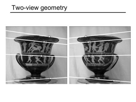 Two-view geometry.
