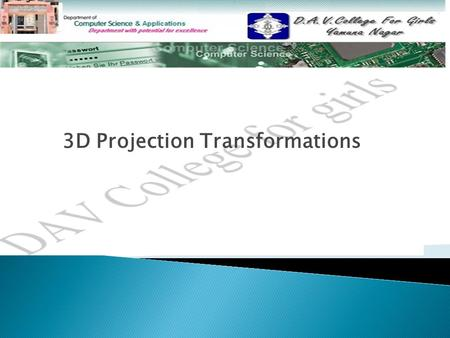 3D Projection Transformations