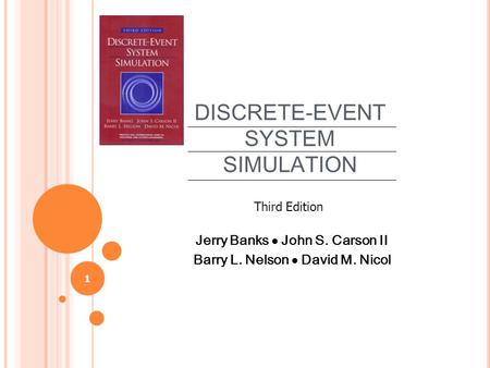solutions manual discrete event system simulation third I introduction to discrete-event system simulation 1 31 concepts in discrete-event simulation 68 instructor solutions manual.