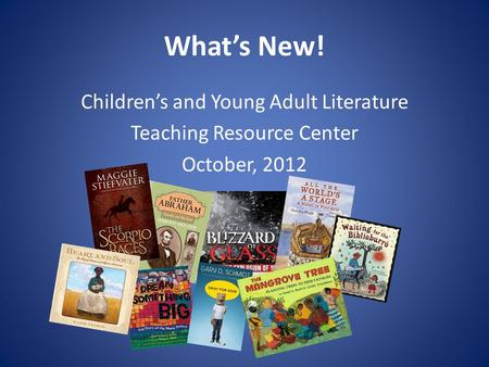 adult literature young Teaching