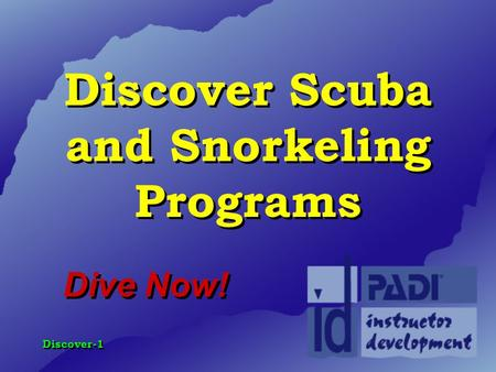 Discover Scuba and Snorkeling Programs