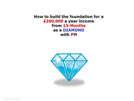How to build the foundation for a £200,000 a year income from 13-Months as a DIAMOND with FM.