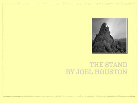 THE STAND BY JOEL HOUSTON. You stood before creation Eternity in Your Hands.