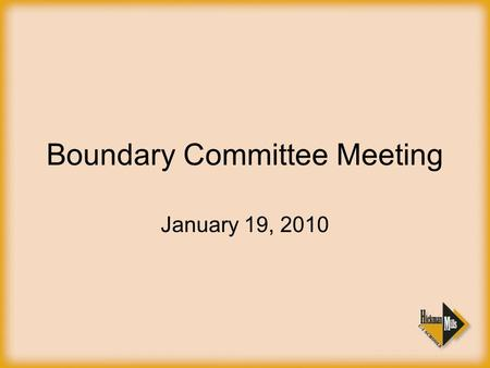 Boundary Committee Meeting January 19, 2010. Suburban Conference Impact Changes classification Schedule Changes Respond by the 26 th (no penalty) Willing.