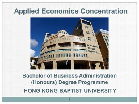Applied Economics Concentration