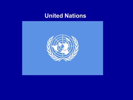 United Nations. The United Nations (UN) is an international organization whose stated aims are to facilitate cooperation in (1) international law, (2)