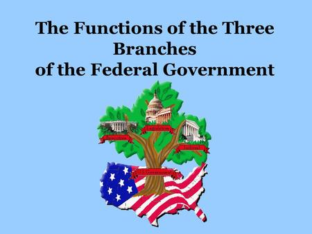 The Functions of the Three Branches of the Federal Government