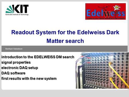 Readout System for the Edelweiss Dark Matter search