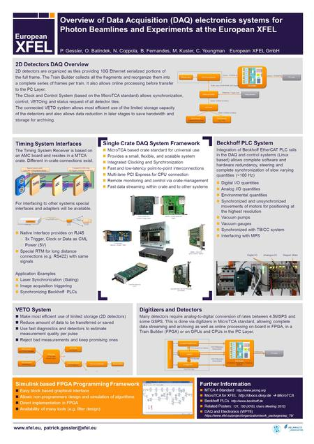 2D Detectors DAQ Overview 2D detectors are organized as tiles providing 10G Ethernet serialized portions of the full.