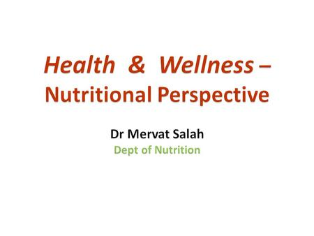 Nutrition – science of food, the nutrients & other subs.. Their action, interaction & balance in relation to health & disease. Process by which organisms..
