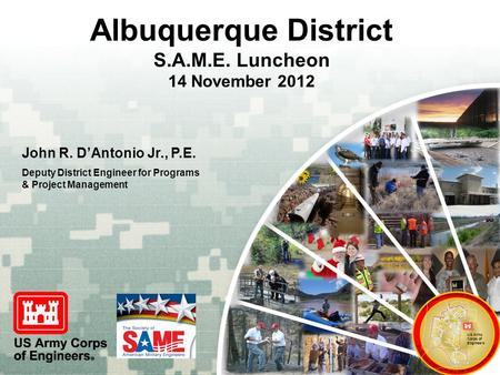 Albuquerque District S.A.M.E. Luncheon 14 November 2012