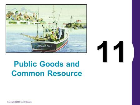 Copyright©2004 South-Western 11 Public Goods and Common Resource.