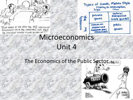 Microeconomics Unit 4 The Economics of the Public Sector.