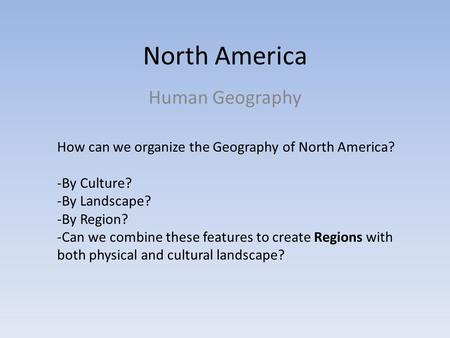 an introduction to the geography and culture of the united states The united states and canada are you a geo-genius, or at least master of the unit's verse  test your knowledge by taking the world cultures and geography interactive quiz for this unit.