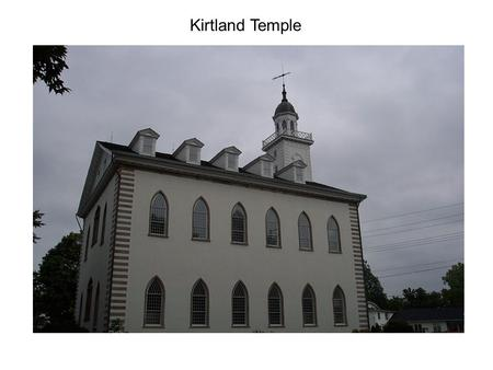 Kirtland Temple. Kirtland Temple – Building Altars in the Sawmill.
