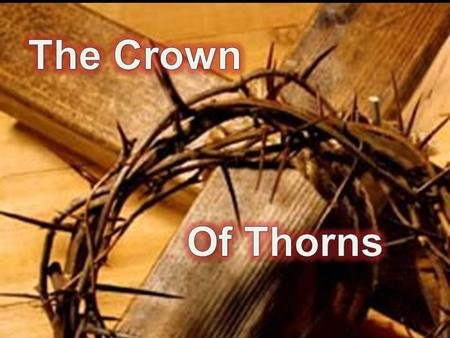 """When they had twisted a crown of thorns, they put it on His head, and a reed in His right hand. And they bowed the knee before Him and mocked Him, saying,"