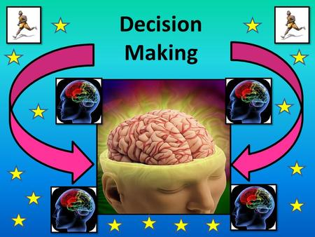 Decision Making. INPUT RESPONSE PROGRAMMING RESPONSE SELECTION STIMULUS IDENTIFICATION OUTPUT Schmidt's simple information processing model Having used.
