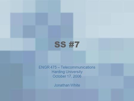 ENGR 475 – Telecommunications