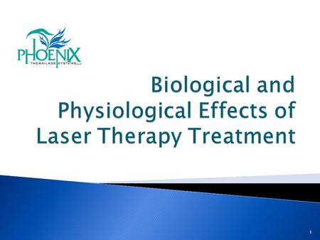 1. The new patented Phoenix Thera-Lase system is designed to deliver a new level of laser energy to the body. Phoenix provides a Stronger, Deeper, Broader.