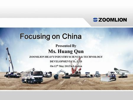 Focusing on China Ms. Huang Qun Do not refresh this file Presented By