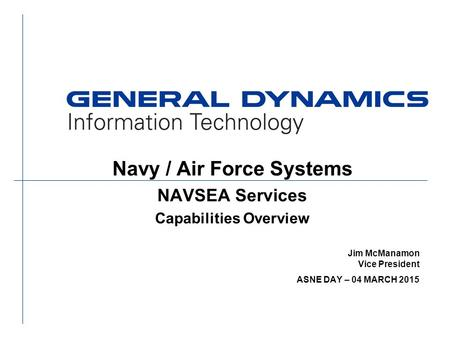 Navy / Air Force Systems Capabilities Overview