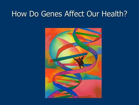 How Do Genes Affect Our Health?. Genetics Unit Questions What is a gene? What is a gene? How do genes mutate? How do genes mutate? What possible traits.
