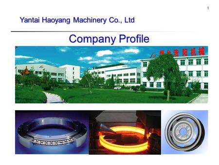 Tk 1 Yantai Haoyang Machinery Co., Ltd Company Profile.