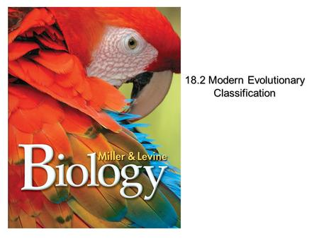 Lesson Overview Lesson Overview Modern Evolutionary Classification 18.2 Modern Evolutionary Classification.