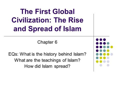 """an examination of the spread of islamic civilization Expansion of islamic civilization as the byzantine and persian empires were in decline, the first four """"rightly guided"""" khalifahs sent arab muslim armies to conquer syria, egypt, iraq and parts of persia."""