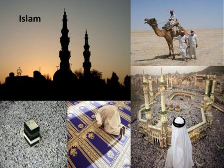 Islam. Key Terms and People Sand dunes Oasis Sedentary Caravan Souk Muhammad Islam Muslim Qur'an Shrine Pilgrimage Mosque Jihad Sunnah Five pillars of.