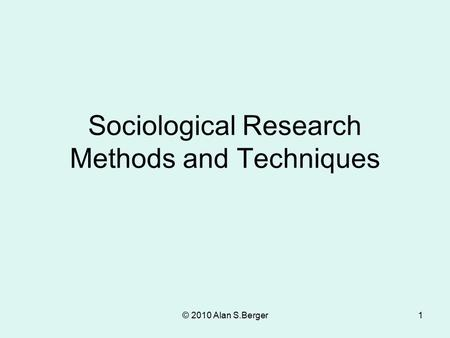 Sociological research proposal