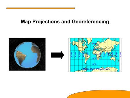 Map Projections and Georeferencing