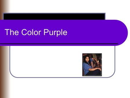an analysis of self genuineness in the color purple by alice walker Litcharts assigns a color and icon to each theme in the color purple, which you can use to track the themes throughout the work the novel is, ultimately, a journey of self-discovery for celie , and for other characters.