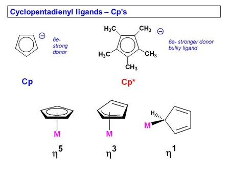 Cyclopentadienyl ligands – Cp's