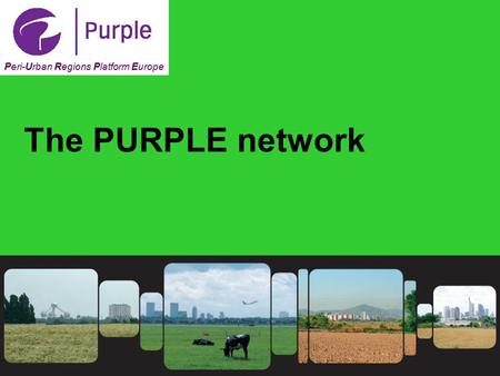 1 Peri-Urban Regions Platform Europe The PURPLE network.