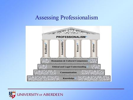 Assessing Professionalism. Professional Standards GMC Duties of a Doctor. Good Medical Practice (2006, new edition 2012). Tomorrow's Doctors (2009)
