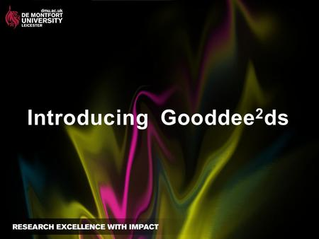 Introducing Gooddee 2 ds. Are people the problem or the solution?