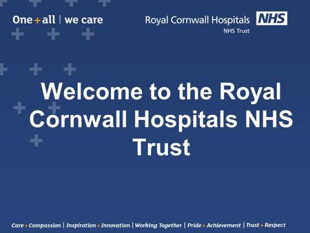 Welcome to the Royal Cornwall Hospitals NHS Trust.