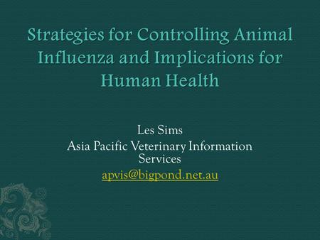 Asia Pacific Veterinary Information Services