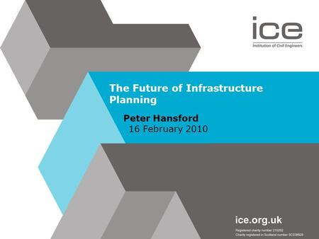 The Future of Infrastructure Planning Peter Hansford 16 February 2010.