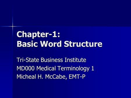 Chapter-1: Basic Word Structure