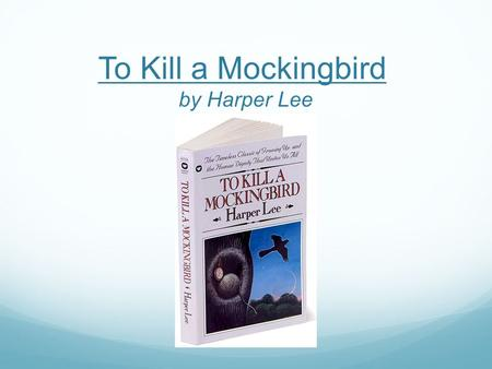 "To Kill a Mockingbird by Harper Lee. Style/Genre: Bildungsroman Dehumanization (already discussed) Bildungsroman (""novel of education"" or ""novel of formation""):"