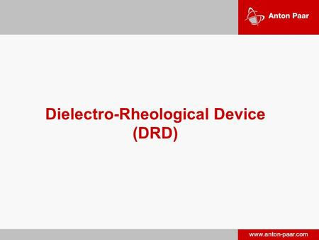 Dielectro-Rheological Device (DRD)