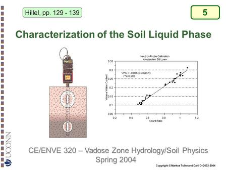 Characterization of the Soil Liquid Phase