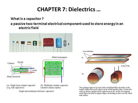 CHAPTER 7: Dielectrics …