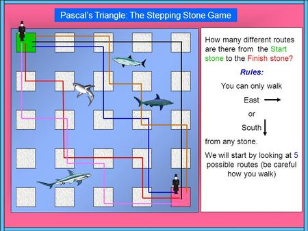 Pascal's Triangle: The Stepping Stone Game