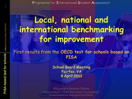 Local, national and international benchmarking for improvement